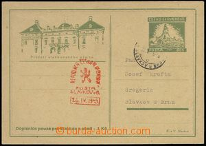 76212 - 1945 PC for Slavkov and surroundings with additional-printed