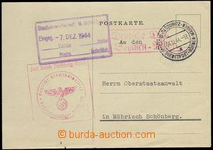 76227 - 1944 DR PARDUBITZ / DDP BuM/ 4.12.44 doplněné červeným rámeč