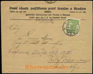 76245 - 1920 Maxa E50, envelope firm The first general insurance com