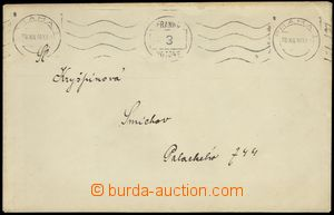 76249 - 1918 letter sent as printed matter paid/franked print MC FRA