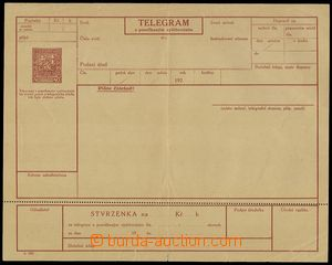 76265 - 1927 CTÚ4Aa, telegram with posečkaným account, additionally
