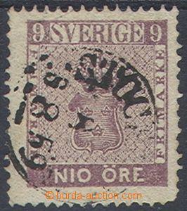 76297 - 1859 Mi.8a, DR STOCKHOLM/ 8.8.1859, dobrá jakost, tupý dol