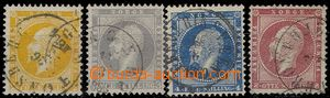 76299 - 1856-57 Mi.2-5, complete set of, clear postmark, c.v.. 230�