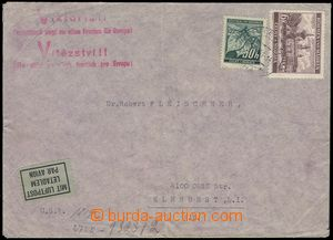 76305 - 1941 air-mail letter addressed to to USA, with Pof.27, 46, C