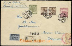 76306 - 1942 air-mail Reg letter sent to Ukraine (!), with Pof.21 2x