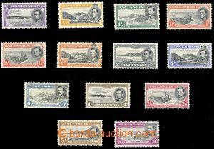 76314 -  Mi.39-52C, Král Jiří VI., kat. min. 280€, hodnoty 2d a 6d l