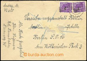 76319 - 1948 SOVIET ZONE  letter in the place with Mi.167 2x, overpr