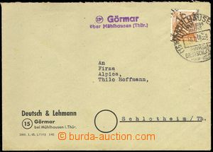 76321 - 1948 SOVIET ZONE  commercial letter with Mi.174 with overpri
