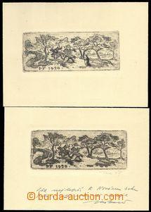 76383 - 1949 JAŠKA J., sestava 2ks novoročenek, koně,  1x s věnování