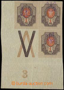 76483 - 1918 Mi.39, block of four Russian stamp. Mi.77- corner with