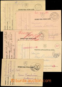 76518 - 1939-43 comp. 5 pcs of cards sent from FP 8, 16, 32, standar