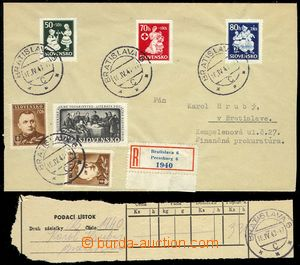 76523 - 1943 Reg letter  in the place i.a. franked by stmp Alb.84-86