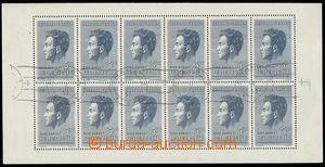 76596 - 1951 Pof.PL574, Fučík, blk-of-12, print válečkového CDS