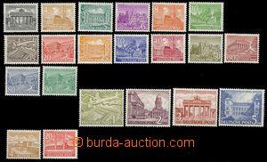 76603 - 1949-53 Mi.42-60, 112-113 Buildings, 21 pcs of, good quality