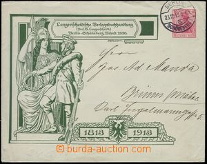 76610 - 1913 soukromá celinová obálka, Germania 10Pf červená, r