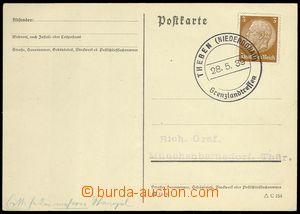 76612 - 1939 card from annexed territory - DĚVÍN -  sent as printe