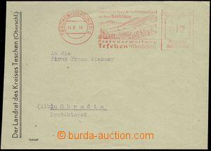 76625 - 1944 meter stmp TESCHEN 2 (Upper Silesia) , 12 Pf, letter to