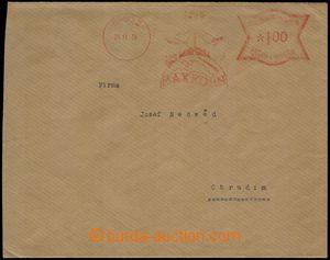 76628 - 1939 OVS Max Kohn Brno, letadlo a Zeppelin v obrázku, bez n