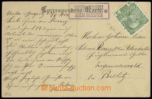 76631 - 1910 poštovna DOLNÍ HERŠPICE, německo - česká mutace,