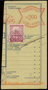 76643 - 1940 meter stmp Spiegler Hronov on/for cut post. dispatch-no