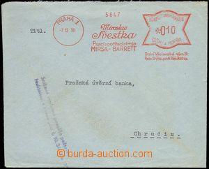 76646 - 1939 OVS Švestka psací stroje Praha 1, bez něm. názvu Pr