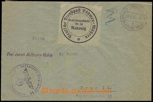 76653 - 1939 service letter to Prague, CDS German Service Post Bohem