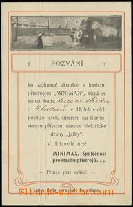 76657 - 1907 FIREFIGHTERS, postcard as invitation card for zkoušku