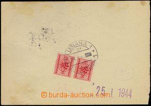 76674 - 1944 LAIBACH  poštovní šeková poukázka, vpředu 2x DR L