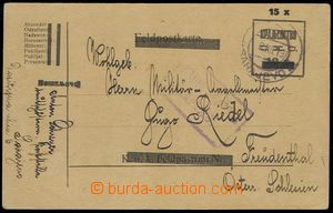 76676 - 1919 Austrian PC FP with overprint, Mi.P23, nationalized CDS