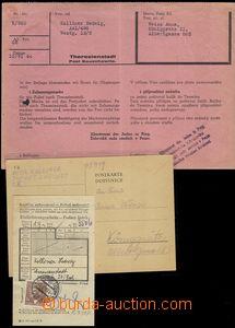76678 - 1943-4 KT TEREZÍN  sestava 4 dokladů jednoho vězně:  1)