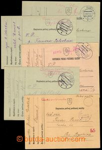 76683 - 1941-43 comp. 5 pcs of Slovak FP cards, from that 4 pcs of w