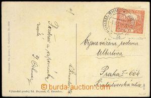 76754 - 1919 pohlednice vyfr. zn. Pof.7a, 15h hnědočervená, podty