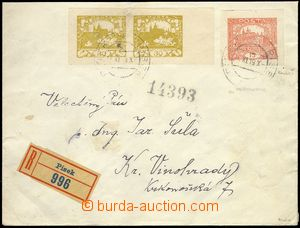 76755 - 1919 philatelically influenced Reg letter with Pof.7a, 15h b