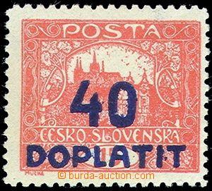 76756 - 1922 Pof.DL30E, 40/15h bricky red, line perforation 11½
