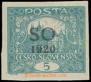 76757 -  Pof.SO3 IIp, imperforated 5h blue-green, bar type II, pos.