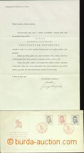 76831 - 1948 FDC M C/48 Gottwald zase president,  issue generálním