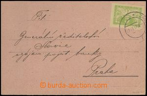 76837 - 1919 commercial PC sent as printed matter, franked with. exp