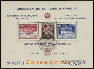 76974 - 1945 AS14, Lidický aršík (Belgie), Pof.A329/330, číslov