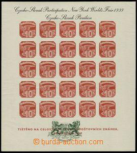 76984 - 1939 Exilové vydání, AS2c, Pof.ANV18, černý text, zelen