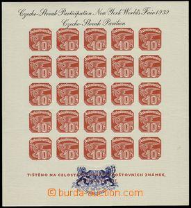 76985 - 1939 Exilové vydání, AS2d, Pof.ANV18, černý text, modr�