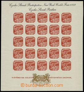 76986 - 1939 Exilové vydání, AS2e, Pof.ANV18, černý text, zlat�