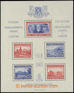 76988 - 1943 Exile AS1, London MS, nice quality, c.v.. 500CZK