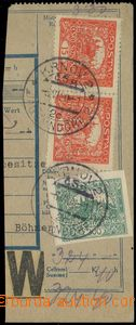 77066 - 1920 Maxa F64, ústřižek balíkové průvodky  vyfr. zn. P