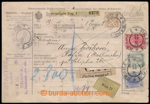 77151 - 1900 whole parcel card for traffic with foreign countries, i