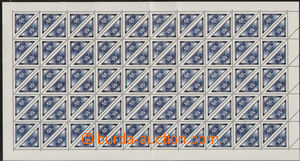 77154 -  Pof.DR1, complete sheet, in the middle folded, cat. min. 13