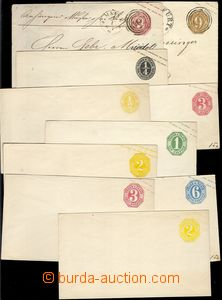 77375 - 1862-65 comp. 10 pcs of postal stationery covers, any other
