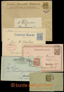 77381 - 1886-08 BERLIN, HAMBURG, COURIER  comp. 9 pcs of various p.s
