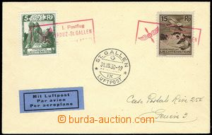 77394 - 1930 air-mail letter with Mi.95, 108, red frame cancel. I. P