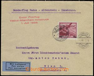 77396 - 1935 Let. dopis vyfr. zn. Mi.148, DR Vaduz 1.VII.35, kašet