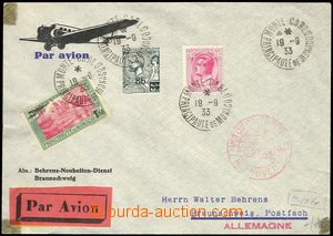 77398 - 1933 air-mail letter with Mi.72, 82 and 137, CDS MONTE CARLO